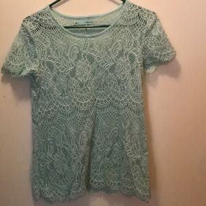 257c40182c0 Maurices Tops - Light blue  green Maurice s lace shirt